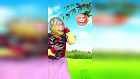 今天变成一个桃子。