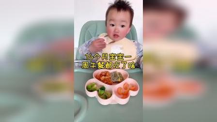 16个月宝宝一周的午餐,简单的家常菜!