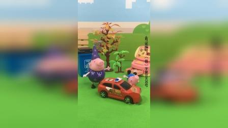 少儿玩具:乔治出门又要买玩具车
