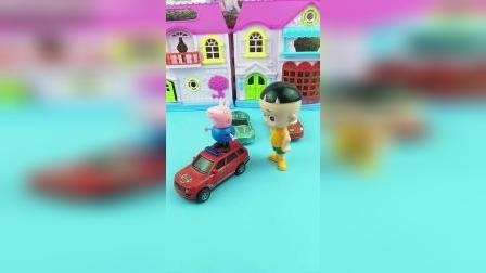 大头有三辆小车,送给了乔治佩奇和小鬼