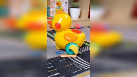 澳贝乖乖小鸭,会下蛋的学爬玩具,好可爱!#学爬玩具 #玩具