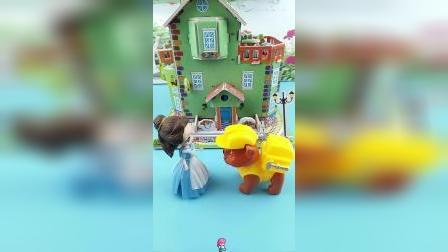 贝儿想委托小砾去找王子,可它并没有去