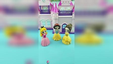 少儿亲子玩具:王子选公主,白雪贝儿长发都想去
