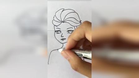 艾莎的三种画法,你学会哪一种?