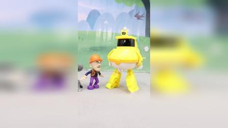 嘟当曼变形机器人抓捕光头强