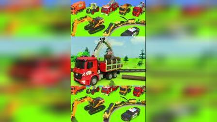 儿童启蒙玩具:环卫车、木头运输车!