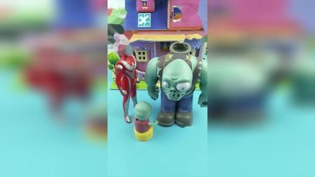 少儿亲子玩具:奥特曼送小鬼回家