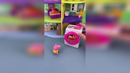 小猪佩奇玩具小故事-帮妈妈做家务