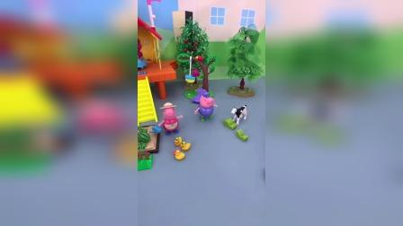 小猪佩奇玩具小故事-爷爷奶奶的菜园子