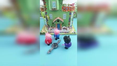 少儿亲子玩具:乔治佩奇变身奥特曼救小力