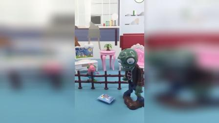 少儿亲子玩具:僵尸给乔治送快递,乔治假装听不见