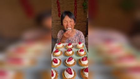 草莓奶油蛋挞,香甜可口隔壁小孩都馋哭了!