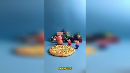 儿童益智玩具:佩奇乔治披萨来了
