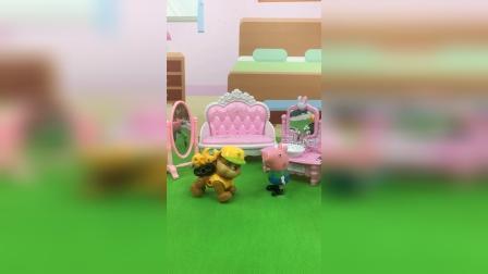 少儿玩具:乔治刷牙没有去上学