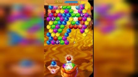 【ゞea高手】闯关小游戏炫彩水果泡泡龙-看准颜色开打