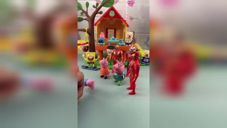 少儿亲子玩具:奥特曼帮助小猪一家