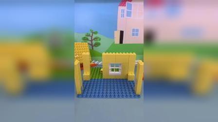小猪佩奇的积木房子玩具