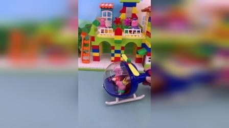 小猪佩奇玩具小故事-佩奇家的飞机
