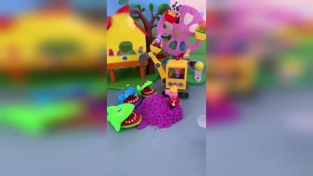 小猪佩奇玩具小故事-装沙子