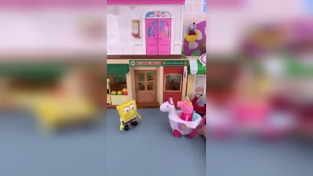 小猪佩奇玩具小故事-佩奇来给弟弟买汉堡