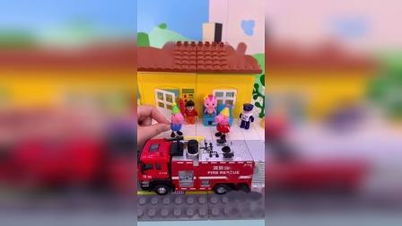 小猪佩奇玩具小故事-猪爸爸的货车