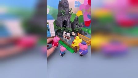 小猪佩奇玩具小故事-猪奶奶的鸭圈