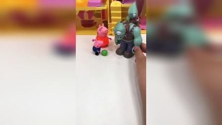 巨人僵尸变好了,不仅和乔治玩,还帮助他赶走了怪兽