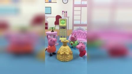 少儿亲子玩具:猪爸爸嫌弃猪妈妈买了贵裙子