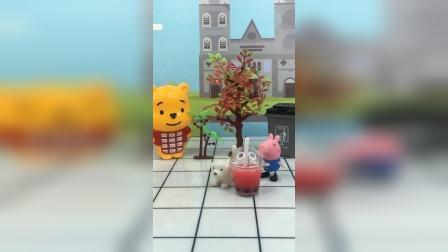 少儿玩具:乔治对佩奇的狗不好