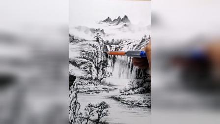 山清水秀、鸟语花香、世外桃源,喜欢的朋友可以画一画