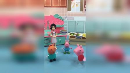 少儿亲子玩具:佩奇和坎蒂在减肥