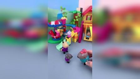 小猪佩奇玩具小故事-游乐场里好多小朋友