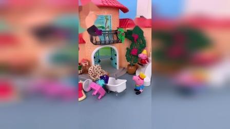 小猪佩奇玩具小故事-猪爸爸要搬家