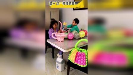 用气球做的水果篮子