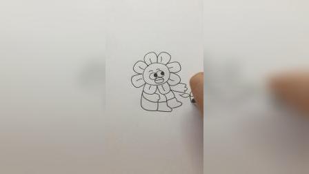 画一个可爱的太阳花#简笔画