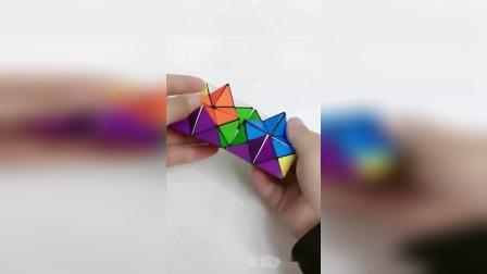 这种无限翻转魔方,有两种形状转变