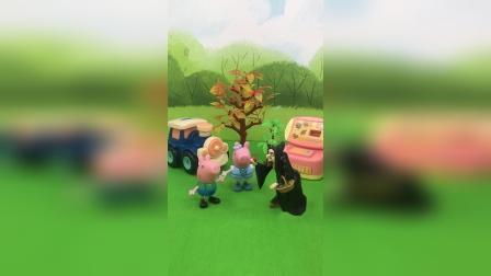 少儿玩具:佩奇把巫婆变成小狗