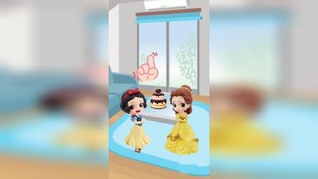 少儿亲子动画:贝儿想要吃白雪的蛋糕