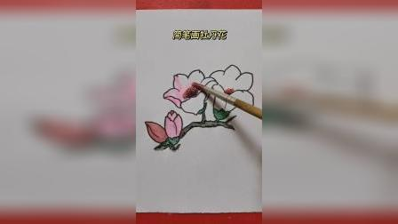 简笔画牡丹花