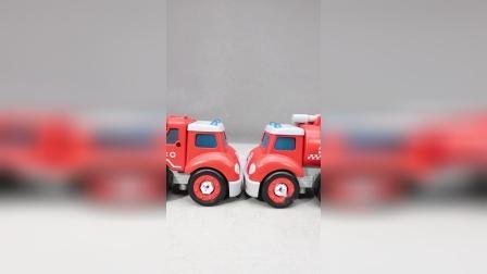 修理组装工程车玩具