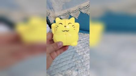 招财猫魔方是一个二阶异形魔方