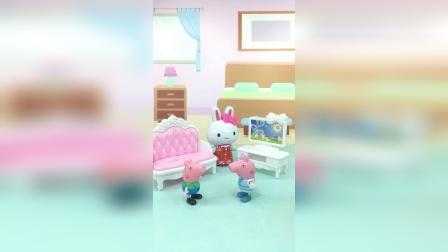 亲子玩具:乔治想吃糖,佩奇不答应