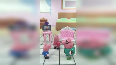 猪爸爸惩罚乔治,猪妈妈惩罚猪爸爸