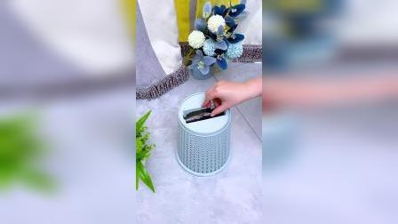 这个懒人垃圾桶太好用了,底部还可以存放垃圾袋,更加方便了