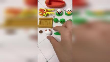 手工粘土:粽子超简单粘土教程