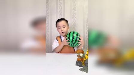 趣味童年:僵尸来了,看我西瓜球的厉害