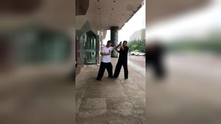 问道太极惟以推手之三李宝余、邰国义阜新市太极拳协会副主席兼推手总教练2021年7月14日
