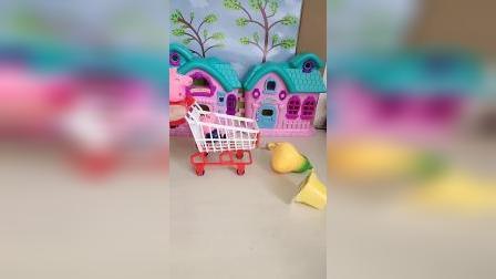 猪妈妈带乔治逛超市