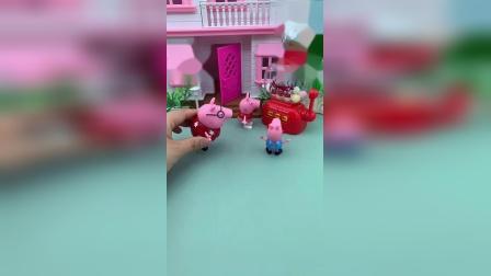 乔治爸爸给孩子们买了糖果机,还是奥特曼糖果机,这些有口福了啊!
