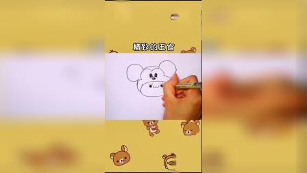15秒画米老鼠,简单易学,一起画吧